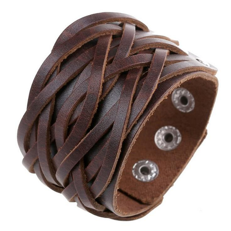 Vintage Steampunk Leather Cuff Bracelet Black Brown White Leather Cuff Bracelets Wide Leather Cuff Men Women Cool Punk Bracelets