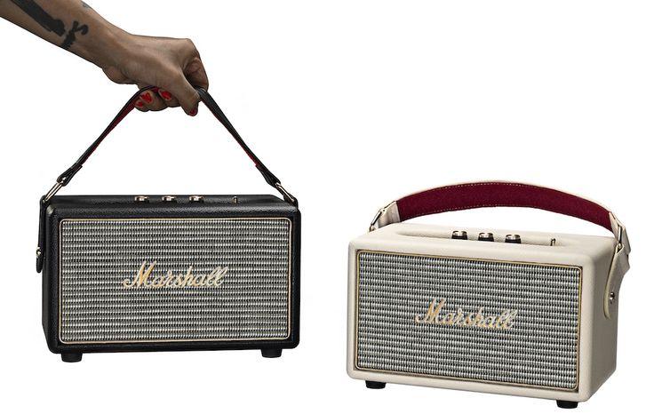 Kilburn, l'enceinte Bluetooth portable de Marshall - http://www.leshommesmodernes.com/marshall-kilburn-enceinte-bluetooth/