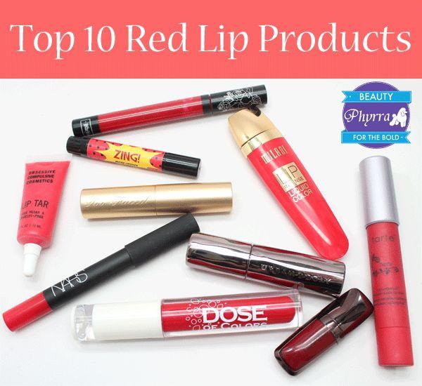 Top Ten Red Lip Products via @Phyrra #crueltyfree