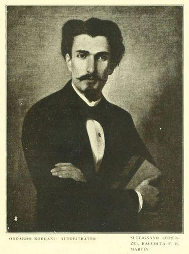 "Self-Portrait   ODOARDO BORRANI (Pisa, 22 agosto 1833 – Firenze, 14 settembre 1905)   ""Macchiaioli"" Painters    #TuscanyAgriturismoGiratola"