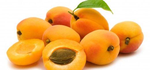 slice apricot on white background