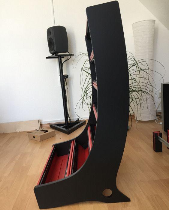 18U Eurorack Case - red & black