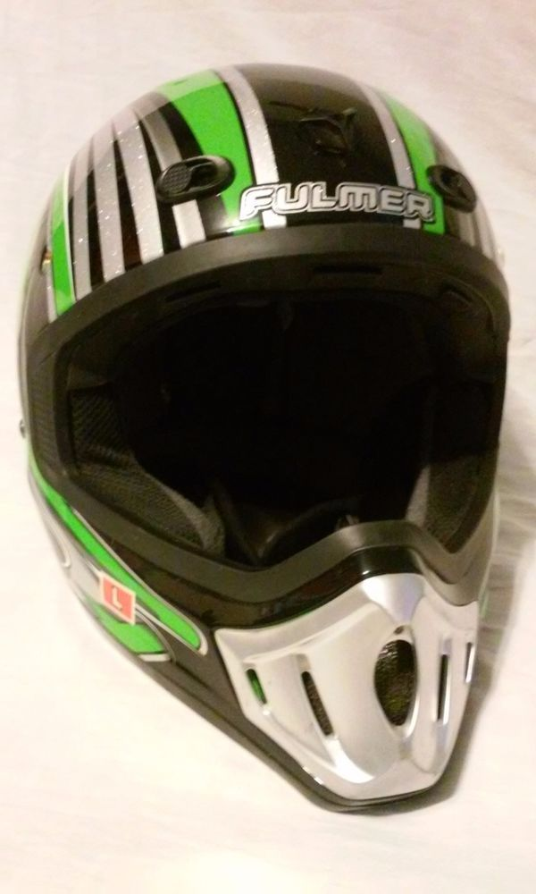 Fulmer MotoCross Helmet & Scott Googles Men's Size Large #Fulmer #Motocross