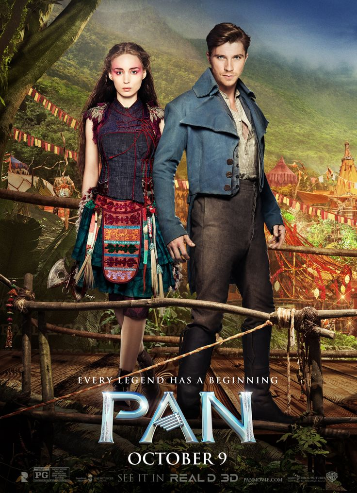 Things never begin the way you imagine. Check out the new poster for Pan, starring Rooney Mara and Garrett Hedlund.