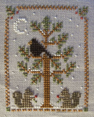 Christmas ornament cross stitch