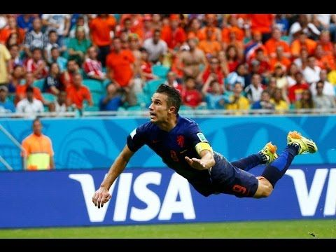Robin van Persie Fantastic Flying Goal Spain vs Netherlands 1 1 World Cu...