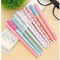Bolígrafo de tinta de gel Cute dibujos animados coreano Pin Tipo Wholesale kawaii papelería, 10 Colors Set