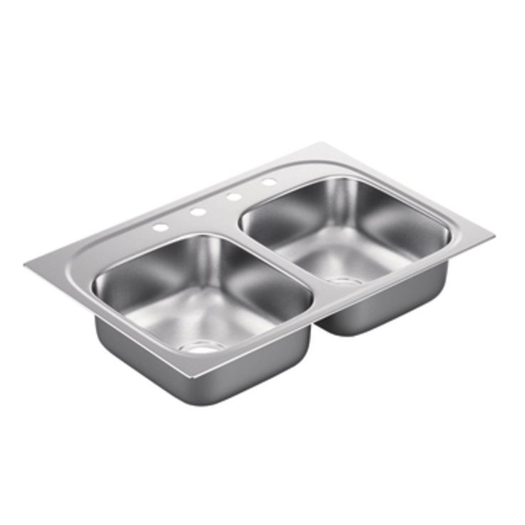 2200 Series Double Bowl Drop-In Kitchen Sink