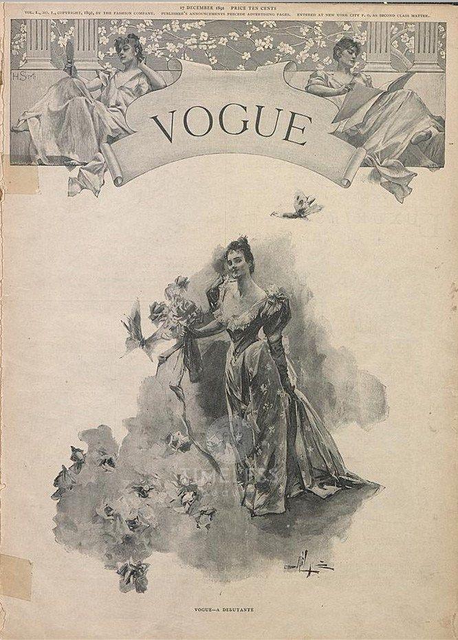 Le evoluzioni delle copertine di Vogue - Timeless Beauty Vogue 1911