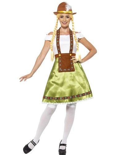 Check out this brilliant Bavarian Maid Womens fancy dress Costume which comes complete with a cute knee length Dress.