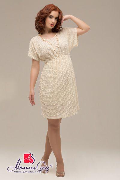 Платье нарядное для беременных «букле» с атласным поясом, арт. 50232320