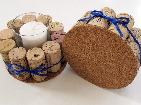 interesting use of extra wine corks - would swap out ribbon