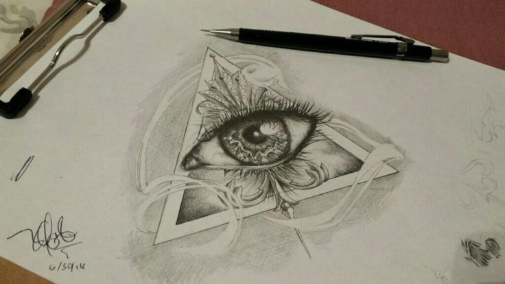 Illuminati eye, amazing detail  Artist: Larry Olague