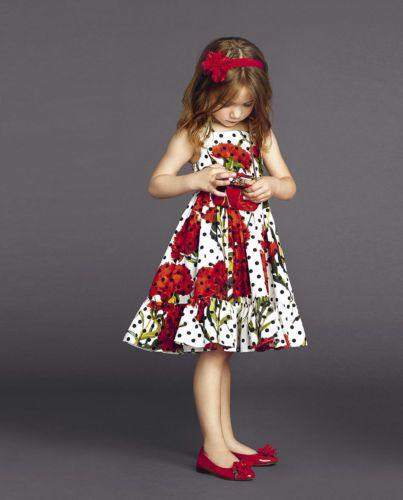 Venda quente 2015 Novo Bebê Crianças Meninas Festa Cravo Flor Imprimir Vestido de Verão Outfits 2-7A crianças Vestidos