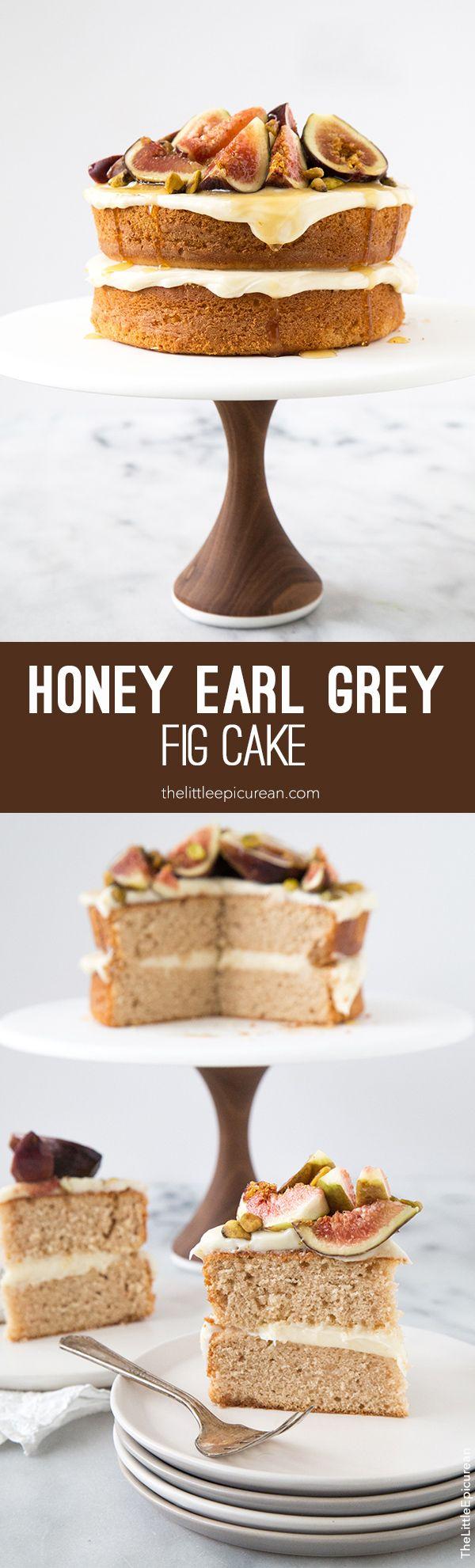 Honey Earl Grey Fig Cake- The Little Epicurean