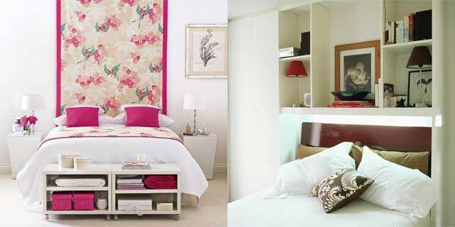 küçük yatak odaları için pratik çözümler