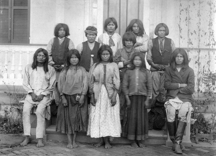 Chiricahua Apaches, 1886. I like to look at old photos to get an idea of how people of the time dressed.