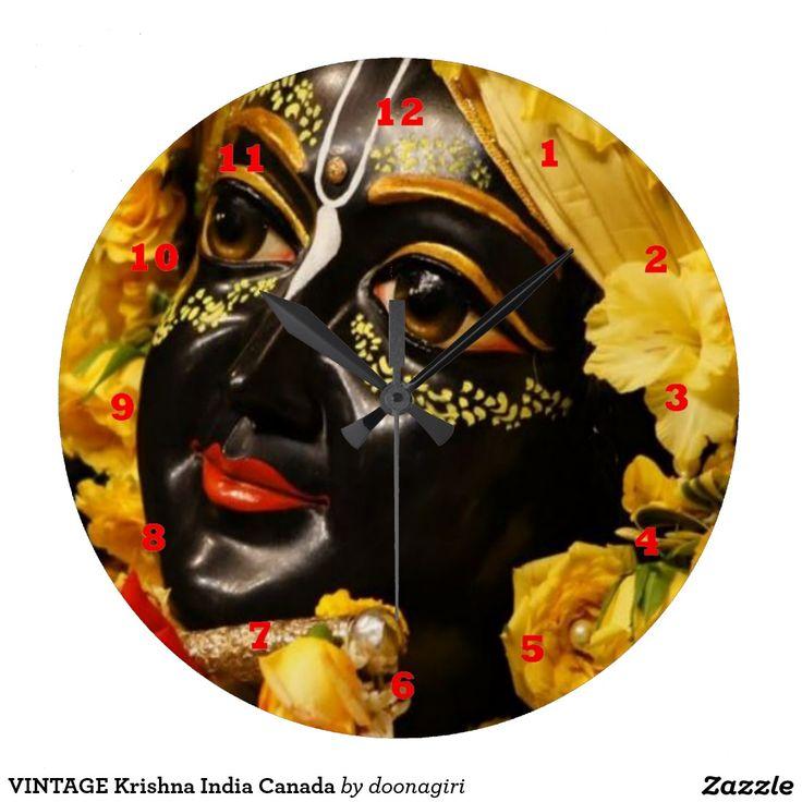 VINTAGE Krishna India Canada Round Wall Clock