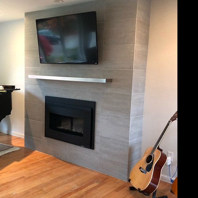 Fireplace Tv, Stainless Steel Fireplace Mantel