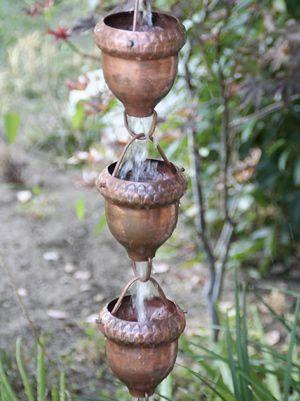 Acorn Cups Copper Rain Chain - FREE Shipping from Cape Cod Weathervane Company