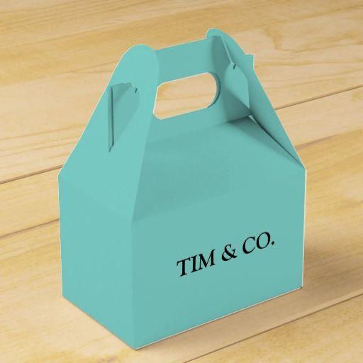 TURQUOISE TIFFANY BLUE CUSTOM CUSTOMIZABLE FAVOR BOX