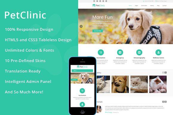 I just released PetClinic – WordPress Theme on Creative Market.
