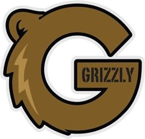 GRIZZLY G-LOGO LARGE SKATEBOARD DECAL STICKER