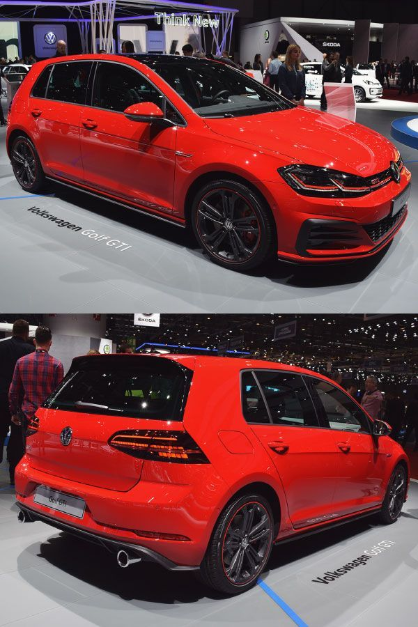 The Vw Golf Gti In Red With Subtle Touches Of Black Volkswagen Golfgti Vwgolf Gti Sportscar Gti Car Vw Golf R Mk7 Volkswagen Gti