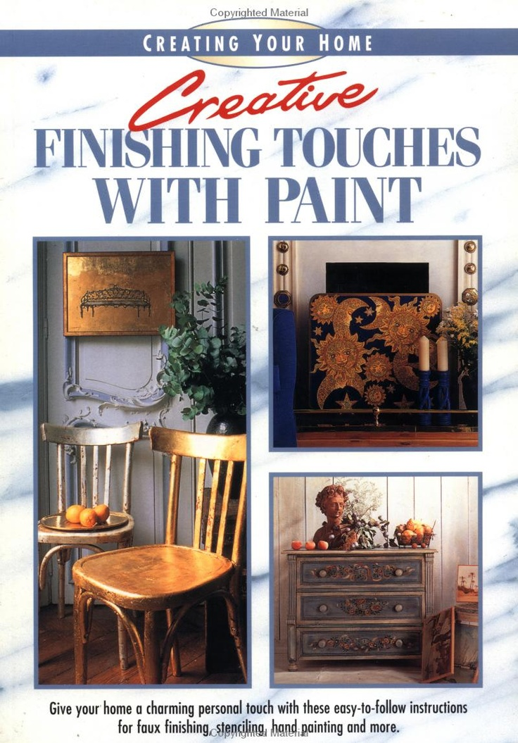 Creative Finishing Touches with Paint ~ photography marieclaire idees