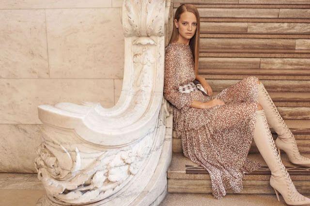 Fantasy Fashion Design: Ine Neefs es la estrella de de la campaña de Zimmermann primavera-verano 2017