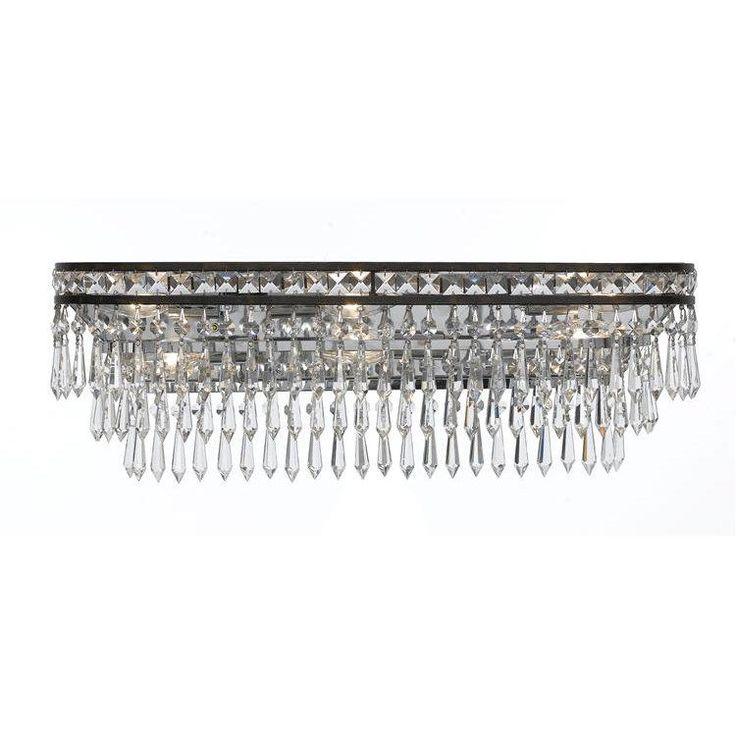 Best 25 crystal bathroom lighting ideas on pinterest bathroom crystorama 5265 mercer 6 light hand cut crystal bathroom light aloadofball Choice Image