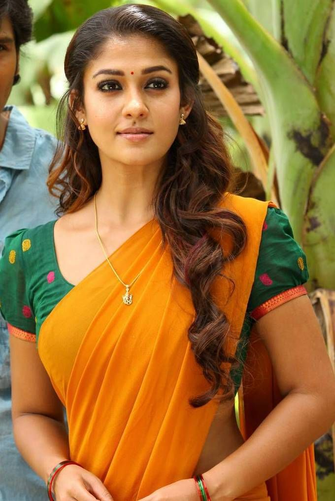 Nayantara Latest Hot Photos In Yellow Saree