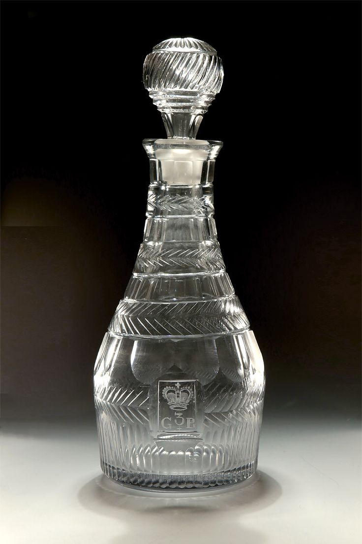 33 best antique glassware images on pinterest antique glassware oversize george iii cut engraved glass decanter england early century of extremely heavy weight and large size the body engraved with a royal coronet biocorpaavc Gallery