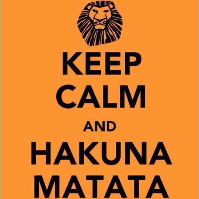 There we go.. //# hakuna matada