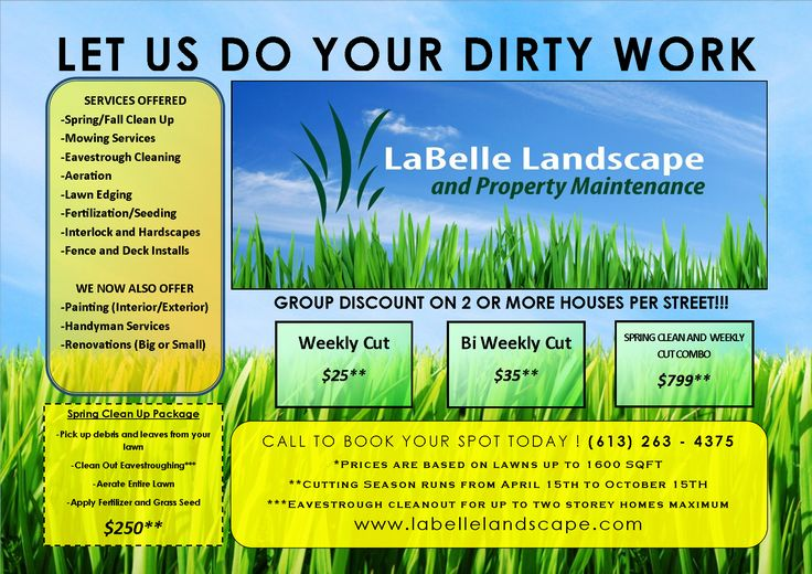 9 best invoices images on pinterest lawn service free for Garden maintenance flyer template