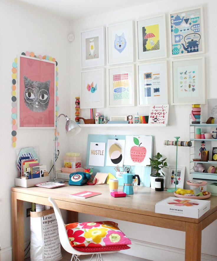This is creative workspace number 1. Click through for my second creative workspace. there is also a FREE download on the blog.