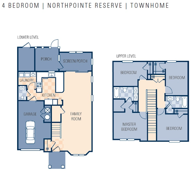 Ncbc gulfport northpointe preserve neighborhood 4 for 4 bedroom townhouse floor plans