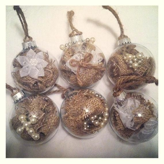 Six Rustic Christmas Ornaments With Pearl Embellishments Homemade Country Christmas Ornaments Ideas Rustic Christmas Ornaments Wholesale Country Christmas Decor Ideas Pinterest