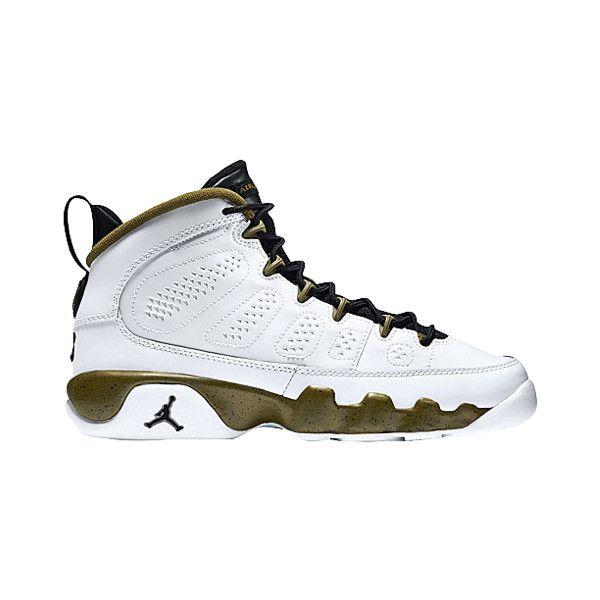 Jordan Retro 9 Boys' Grade School ($140) ❤ liked on Polyvore featuring shoes, jordans, jordan 9 and sneakers