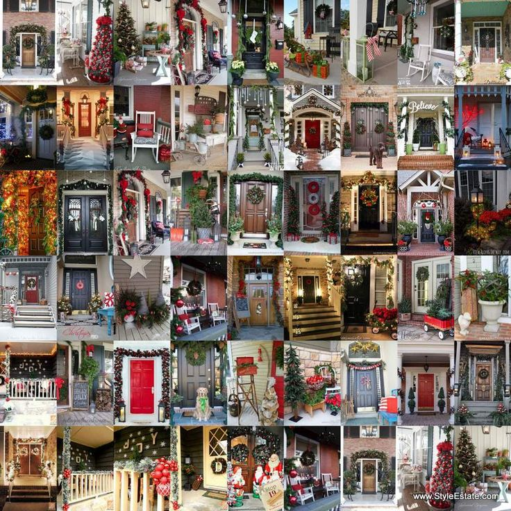 50 Stunning Christmas Porch Ideas - Follow Me On Pinterest for all of     the latest updates.