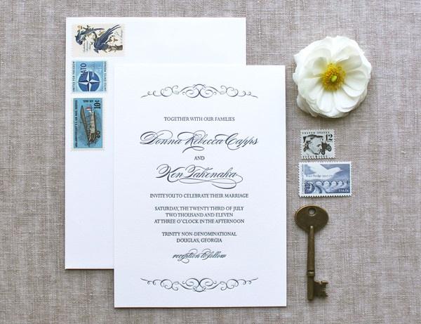 LUDLOW invitation suite, www.weheartpaper.com - We Heart Paper, Letterpress, Wedding Invitations, Social Stationery