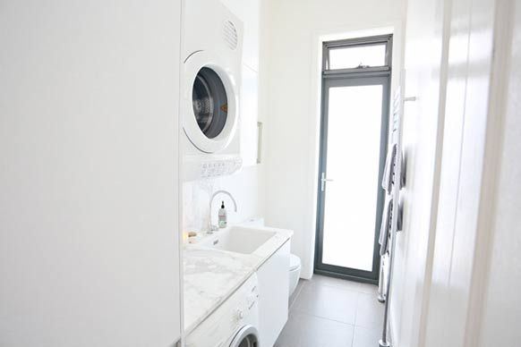 Great use of sml laundry space -  The Block All Stars house.