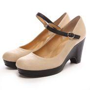 ジェリービーンズ JELLY BEANS フラワーウェッジパンプス(黒)-「買ってから選ぶ。」靴とファッションの通販サイト ロコンド