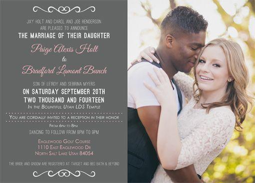 wedding announcements commitments paige ohara summer wedding lds wedding invitations marriage wedding stuff