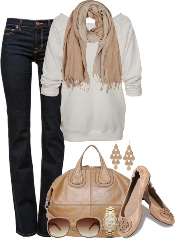 Fall: Autumn Outfits, Fall Looks, Fall Outfits, Fall Wint Style, Fall Fashion, Untitl 35, Flats, Dark Jeans, Neutral