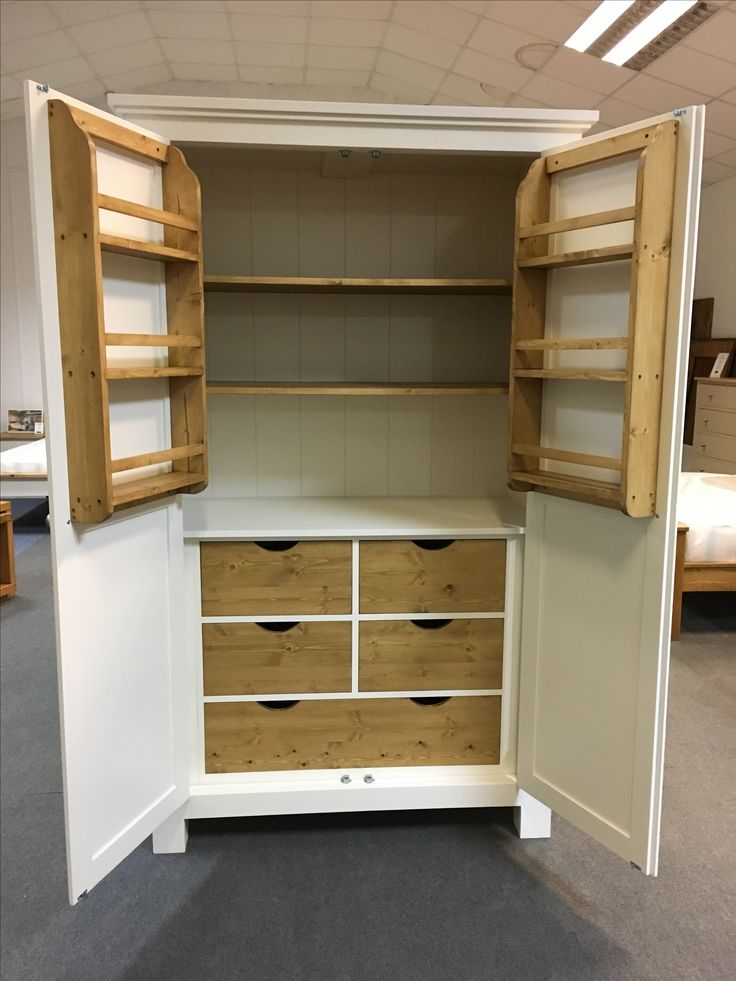 This Larder is in F&B Pavillion Gray. BESPOKE FURNITURE AT AFFORDABLE PRICES. www.cobwebsfurniture.co.uk