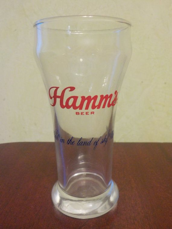 Vintage Hamms, Hamms Beer Glass, Over 5 1/4 Inches tall, holds 6oz