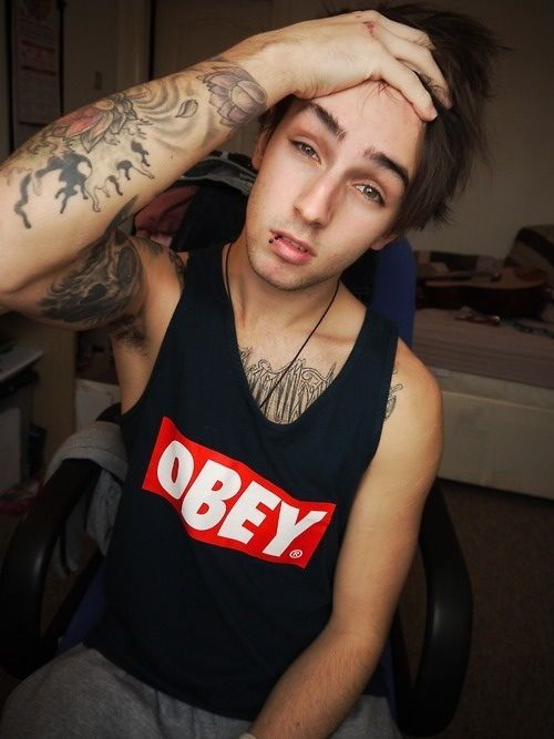 tattoos lip piercings boys style pinterest