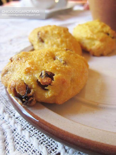MAIS - Gialletti: i biscotti alla farina di mais e uvetta