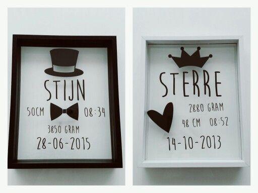 Geboortelijsten Stijn en Sterre ● Troetel.com